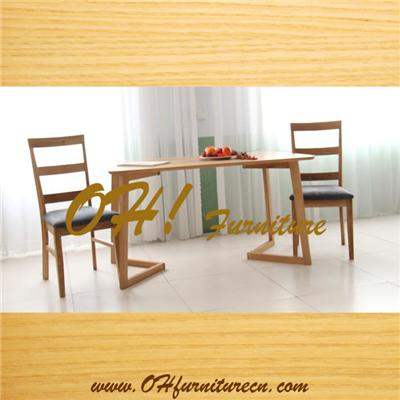 Elegant Solid Wood Table Chair Set