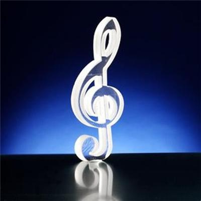 Water Cutting Crystal Music Note