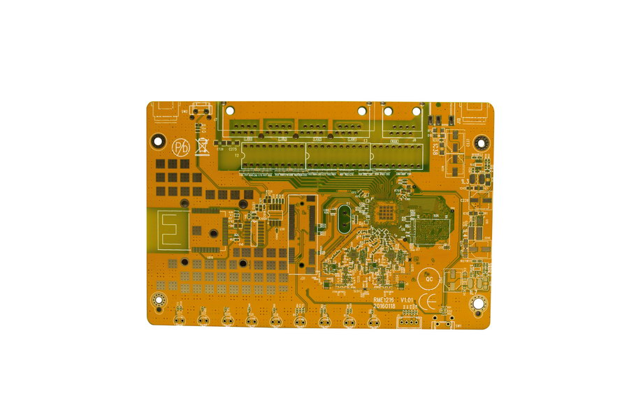 4L Printed Circuit Board, yellow soldermask, Multilayer PCBs Prototyping & small series Supplier