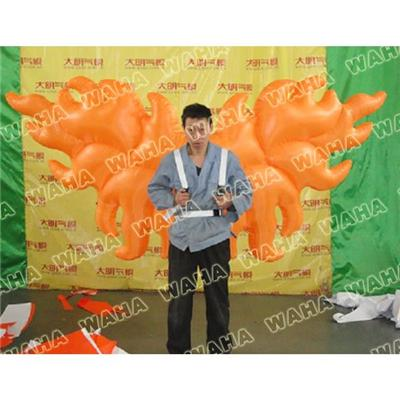 Event Decoration Orange Wing Inflatable Cosutme