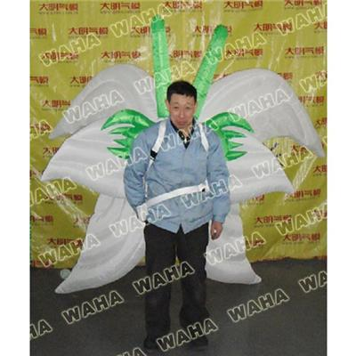 White Inflatable Butterfly Costume For Performance