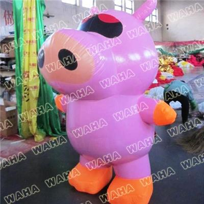 Inflatable Pig Costume Promotion