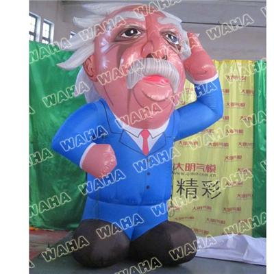 3D Inflatable Einstein Human Mascot Cartoon