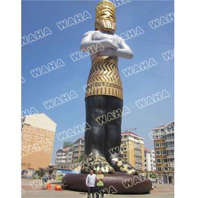 8-15m High Giant Inflatable Gold Human And Inflatable Man