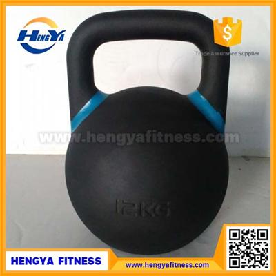 NO-filling Powder Coated Steel Competition Kettlebell