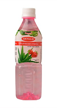 Okyalo 500ml awaken aloe vera gel drink with strawberry flavor