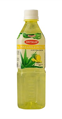 Okyalo 500ml awaken aloe vera gel drink with pineapple flavor