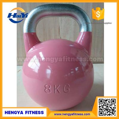 Chrome Plated Handle Steel Competition Kettlebell