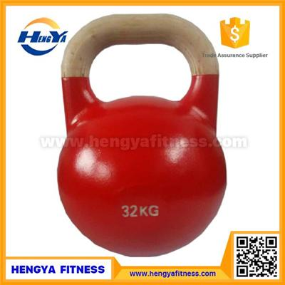 2016 New Product Wooden Handle Precision Cast Steel Competition Kettlebells for Sale