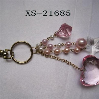 Keychanis with hearts metal alloy, OEM available