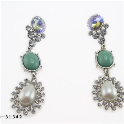 Drop Earrings, OEM Designs are Welcome, Suitable for Gifts and Banquet Occasions, Made of Zinc Alloy