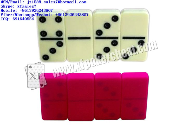 XF Playing Yellow Plastic Dominoes For Invisible Contact Lenses And Backside Cameras / Omaha poker analyzer china / marked cards playing cards china / KEM Marked cards / Fournier marked cards / copag
