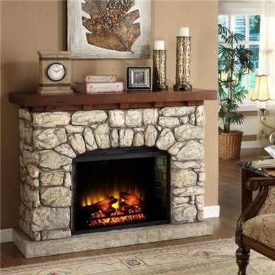 Indoor Wall Electric Fireplace with Fan Heater