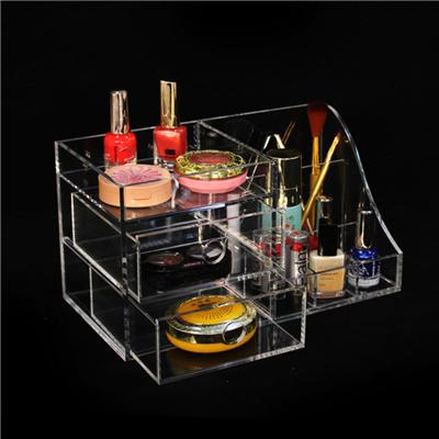 Custom Plexiglass Makeup Storage Nail Polish Display Transparent Acrylic Cosmetic Drawer Organizer Wholesale