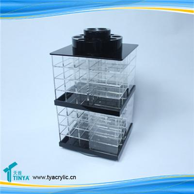 High Quality Wholesale Acrylic Cosmetics Display Holder Acrylic Makeup Lipstick Display Stand Lipstick Organizer Holder