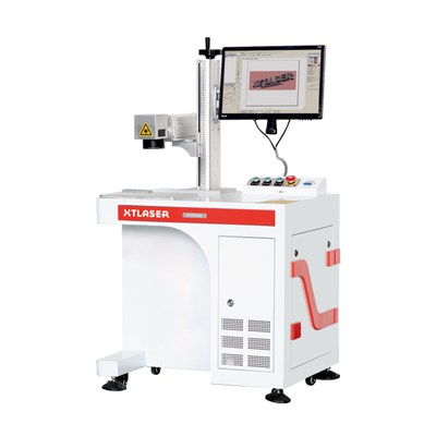 20w 30w 50w 100w Enclosed Desktop Fiber Laser Marking Machine With Protection For Metal, Steel, Brass, Aluminium