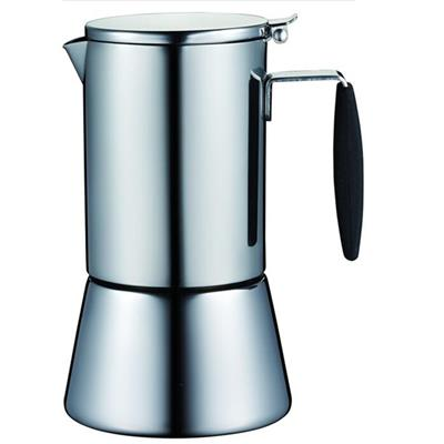 6 Cups Mirror Finish Stove Top Espresso Coffee Maker Pot