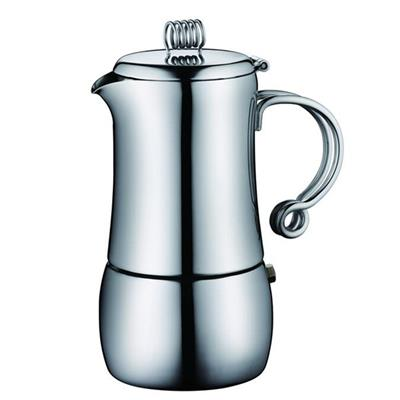 6 Cups Stove Top Stainless Steel Espresso Coffee Maker For Home Decoration