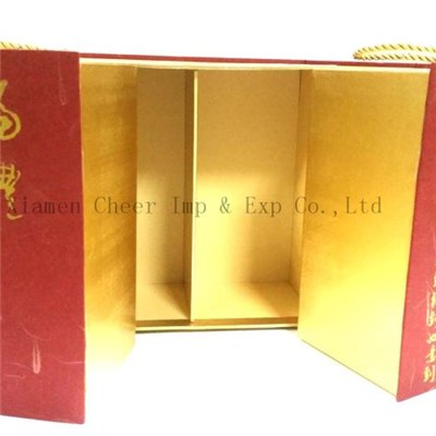 Specialty Paper Hardbound Box For Wine