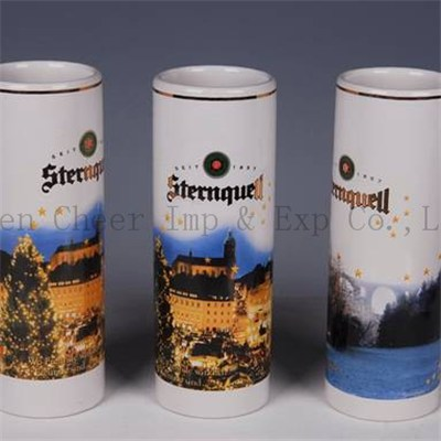 500ml Personalized Printing Ceramic Beer Cups