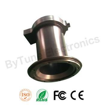 CNC machining billet aluminium motor tube mount, OEM factory, with custom logo lasered