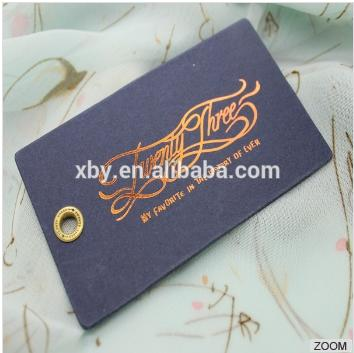 Thick cardboard high quality hang tag, gold foil print/stamp