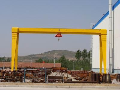 20ton single girder gantry crane with electric hoist