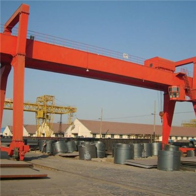 Customized Double Girder Electric Gantry Crane With Heavy Duty, For Lifting Materials/Goods