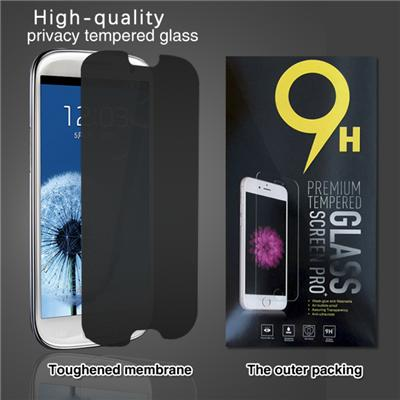 Privacy Anti-Spy Tempered Glass Screen Protector Shield For Samsung Galaxy S3 - Lifetime Replacements Warranty - Retail Packaging