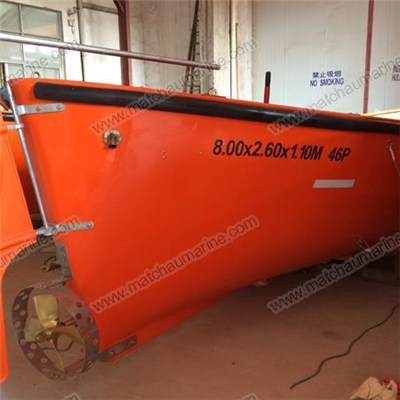 Marine SOLAS Open Type FRP Lifeboat