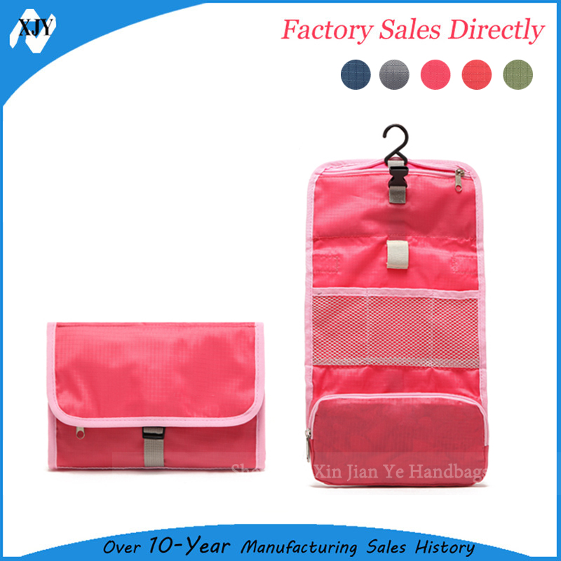 Hanging large capacity travel toiletry bag
