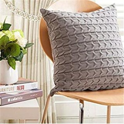 fancy knitted cushion cover