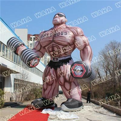 8m High Inflatable Muscleman For Advertising