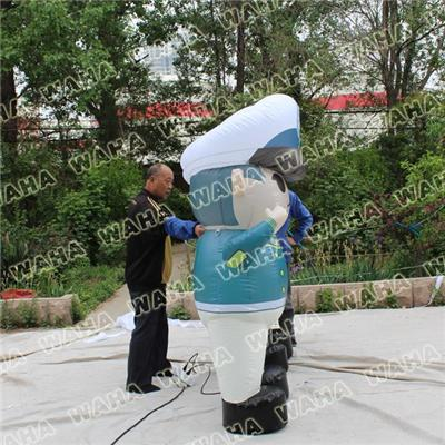 2m High Cute Inflatable Policeman For Advertising