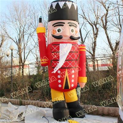 Christmas Advertising Inflatable Nutcracker For Christmas Decoration