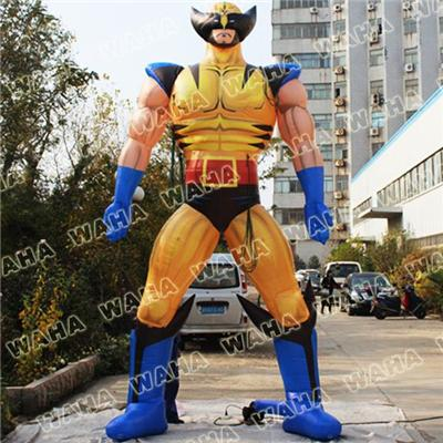 5m High Inflatable Characters Wolverine Super Hero