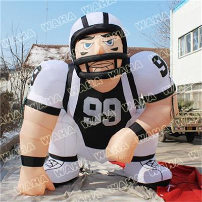 3m High Inflatable Football Sportsman Player