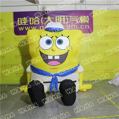 Giant Inflatable Spongebob For Christmas Decoration