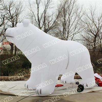 Giant Inflatable Polar Bear For Christmas Decoration