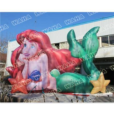 Vivid Inflatable Character Inflatable Little Mermaids For Decorations