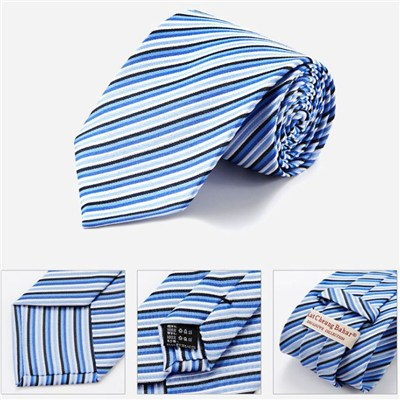 Discount Designer Nave Blue Striped Ties