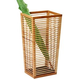 Bamboo Umbrella Storage Bucket