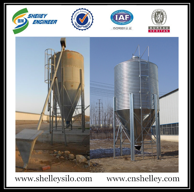 10 ton used poultry feed silo
