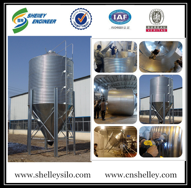 Corrugated Feed hopper silo for poultry house