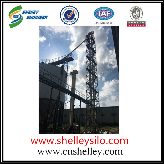 Steel grain bucket elevator for farm