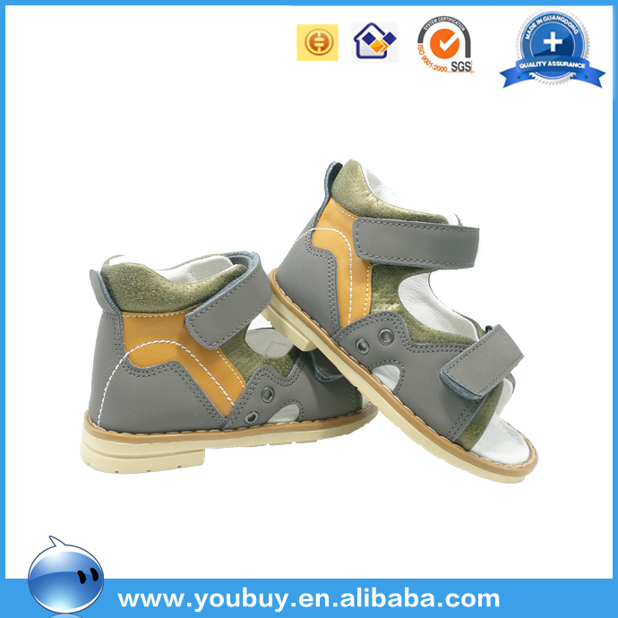 Simple Hard Sole Arch Support Orthopedic Sandals Shoes For Kids Boys