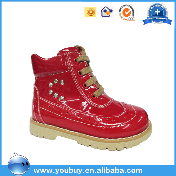 Handmade leather shoes turkey ,professional child ankle orthotic shoes