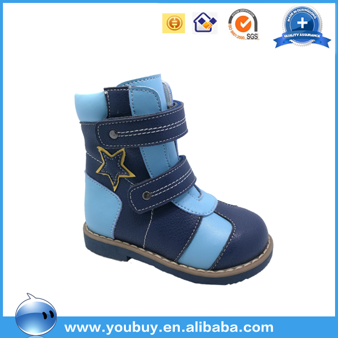 Autumn and winter blue healthy orthopedic shoes for children manufactured in guandong