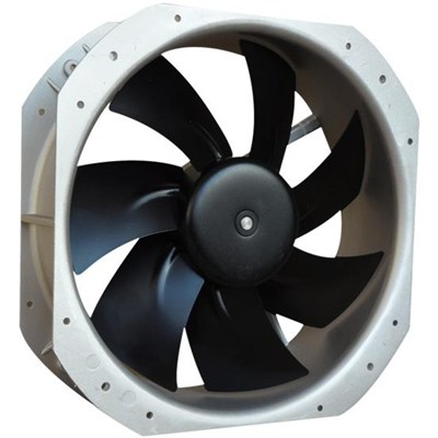 250mm 24V 48V Dc High Efficiency Industrial Axial Flow Fans For Telecom
