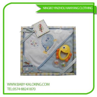 Baby Cloak Of Cotton Polyester Three-piece Suit